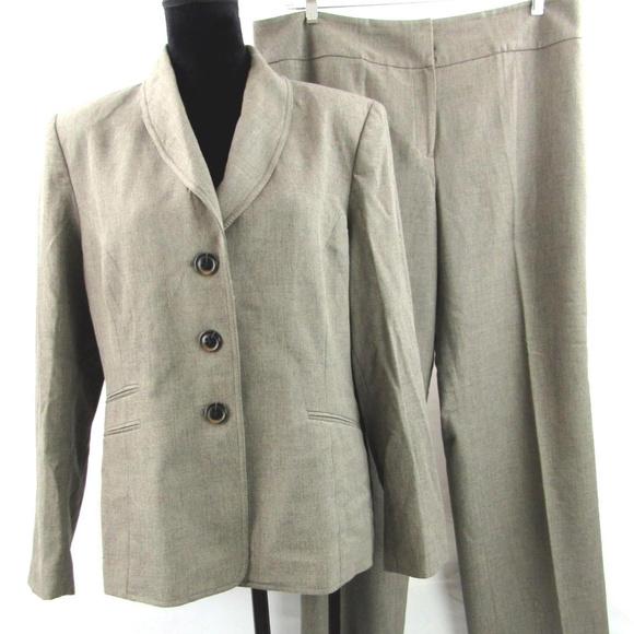 3417ed909fe Kasper Jackets   Blazers - Kasper Pants Suit Work Plus Size 16
